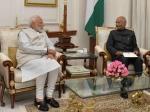 રાષ્ટ્રપતિ રામનાથ કોવિંદને મળ્યા પીએમ મોદી, આપ્યું રાજીનામું