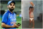 ડાયપર પહેરીને ક્રિકેટ રમી રહ્યું છે નાનું બાળક, કોહલીએ માંગી જાણકારી