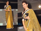 NDTV એવોર્ડ: ગોલ્ડન સાડીમાં ચમકી ઉઠી દીપિકા