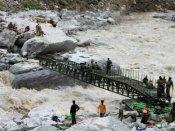 ઉત્તરાખંડ: રૂદ્રપ્રયાગમાં સરસ્તવતી નદી પર બનેલો પુલ તણાયો, 164 ફસાયા