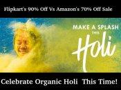 ફિલ્પકાર્ટ 90% અને એમેઝોનનો 70% હોળી સેલ...