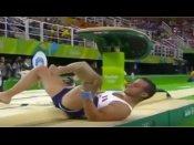 રિયો ઓલિમ્પિક: જિમ્નાસ્ટ સાથે થયો દર્દનાક હાદસો, જુઓ વીડિયો