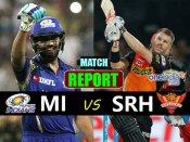 IPL 10: હૈદરાબાદે મુંબઇ ઇન્ડિયન્સને 7 વિકેટથી હરાવ્યુ હતુ.