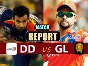 IPL 10: દિલ્હી ડેરડેવિલ્સે ગુજરાત લાયન્સને 2 વિકેટથી હરાવ્યુ