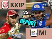 IPL 10:કિંગ્સ ઇલેવન પંજાબે મુંબઇ ઇન્ડિયન્સને 7 રનથી હરાવ્યુ