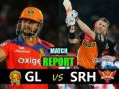 IPL 10: સનરાઇઝર્સ હૈદરાબાદે ગુજરાતને 8 વિકેટથી હરાવ્યું