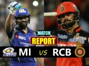 MIvRCB : મુંબઇ ઇન્ડિયન્સે બેંગ્લોરને 5 વિકેટથી હરાવ્યો