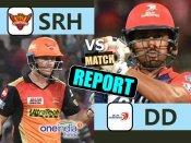 IPL 10 : દિલ્હી ડેરડેવિલ્સે હૈદરાબાદને 6 વિકેટથી હરાવ્યું