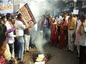 હાર્દિક સીડી કાંડ બાદ ગુજરાતમાં ઠેર ઠેર પૂતળા દહનનું રાજકારણ