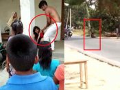 Video: ગોરખપુરમાં પતિ બન્યો હેવાન, રસ્તા વચ્ચે પત્નીની પીટાઈ