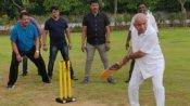 Pics: યેદુરપ્પા વિધાયકો સાથે ક્રિકેટ રમતા જોવા મળ્યા