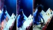 VIDEO: ચોરે પહેલા કાન પકડીને માફી માંગી અને પછી માઁ દુર્ગાના કિમતી મુગટની ચોરી કરી