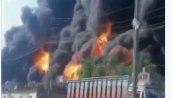 બ્લાસ્ટના થો઼ડા મહિના બાદ ફરી બેરૂતમાં લાગી આગ, ધુમાડાથી આકાશ થયું કાળું