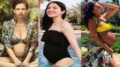 PICS: અનુષ્કા શર્મા સહિત આ બૉલિવુડ અભિનેત્રીઓએ બિકિનીમાં કર્યુ બેબી બંપ શો ઑફ