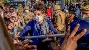 પાર્ટી કાર્યકરોને પોલીસના લાઠીચાર્જથી બચાવવા સામે આવી પ્રિયંકા ગાંધી