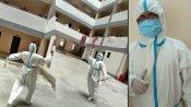 રાજકોટઃ પ્રતિબંધ છતાં પીપીઈ કિટ પહેરીને ગરબા રમ્યા ડૉક્ટર