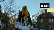 અમેરિકાઃ ખેડૂત પ્રદર્શનમાં ખાલિસ્તાની સમર્થકોએ મહાત્મા ગાંધીની પ્રતિમા તોડી