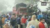 મુરાદાબાદ-આગ્રા હાઈવે પર મિની બસ અને કેન્ટરની ટક્કર, 10 લોકોના મોત