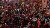 Video: લાખો લોકો હોળી રમવા કૃષ્ણનગરી મથુરા પહોંચ્યા, બાંકે બિહારીના મંદિરમાં પગ મૂકવાની જગ્યા નથી, જુઓ