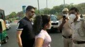 માસ્ક ના પહેરી અને દિલ્હી પોલીસ સાથે ગેરવર્તણુંક કરનાર કપલ ગિરફ્તાર, વીડિયો થયો વાયરલ