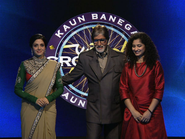 Sridevi In Kbc Promotion English Vinglish
