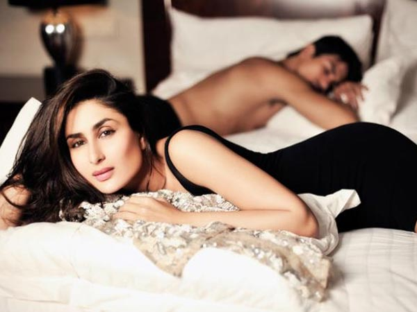 Guess Who Sleeping On Kareena Bed