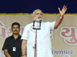 Modi Laid Foundation Stone For High Rise Housing Vadoda