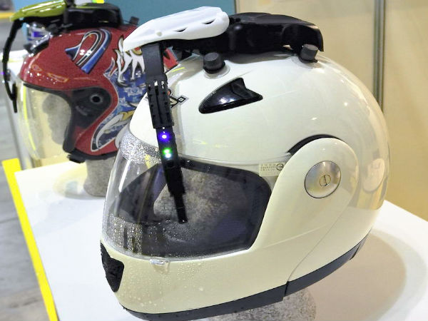 A Helmet With Wiper Rainy Season