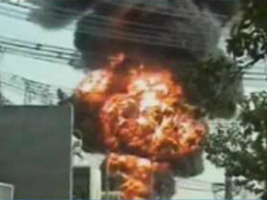 Fire In Power Sub Station