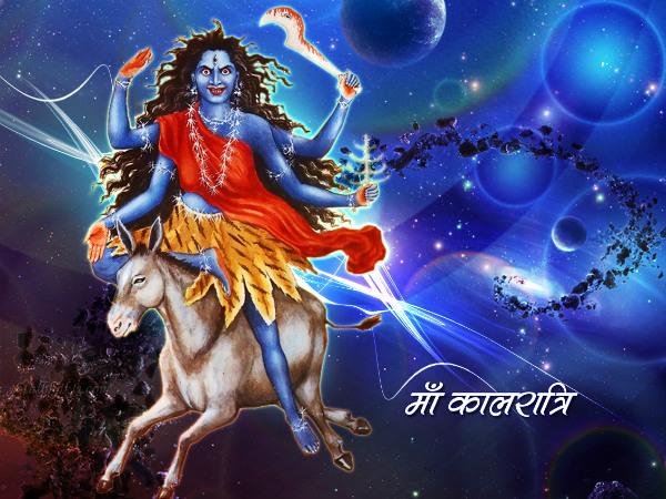 Maa Kali Worshiped On 7th Navratri
