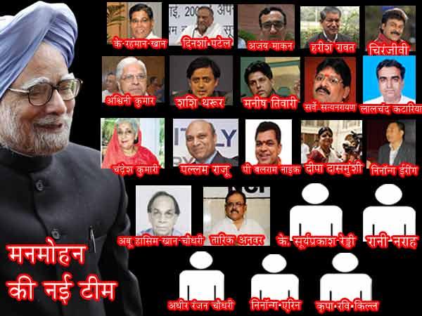 Cabinet Reshuffle Upa New Portfolios In Manmohan Singh
