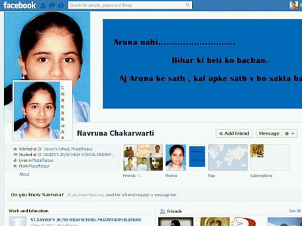 Friends Launch Save Navruna Facebook Page