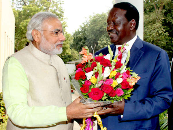 Prime Minister Of Kenya Meets To Narendra Modi
