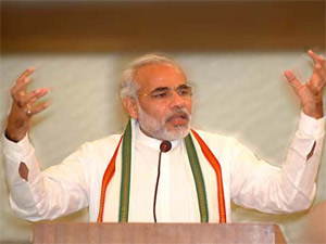 Modi Shares Dais With Rss And Vhp Leaders