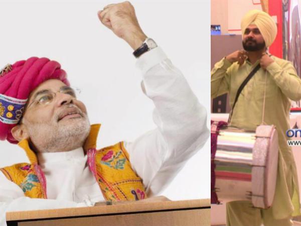 Navjot Singh Siddhu Leave Bigg Boss 6 Narendra Modi