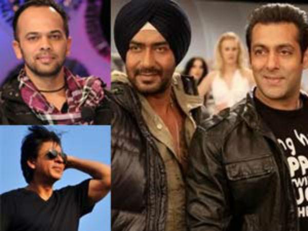 Shahrukh Khan Ajay Devgan Salman Rohit Shetty Party