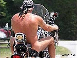 Man Rides Naked On Bike In Kottayam