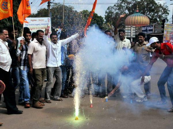 India Celebrating The Hanging Of Kasab