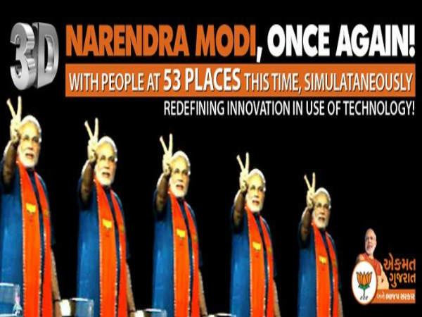 Modi To Address People Across 106 Places In Gujarat
