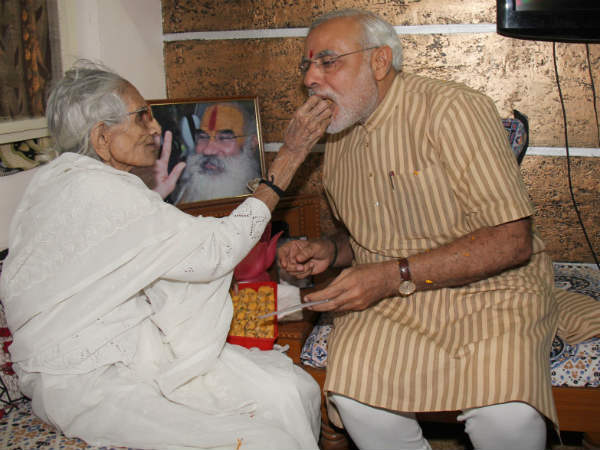 Narendra Modi Mom Says My Son Wants To Be Pm
