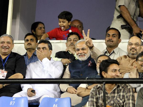 Modi Watched India Pakistan T20 Match