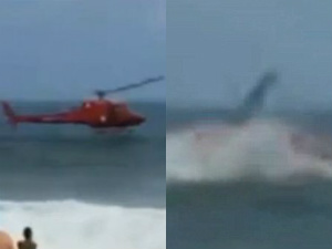 Helicopter Crashes Into Sea