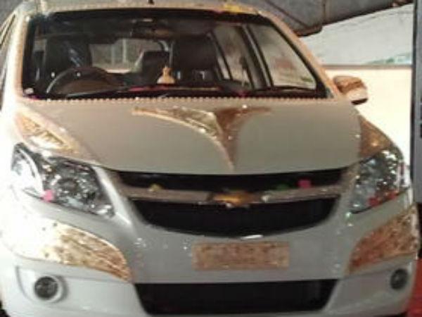 Diamond And Gold Car In Vibrant Gujarat Trade Fair