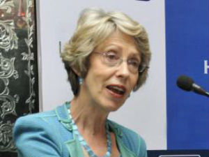 Patricia Hewitt Started Speech In Gujarati