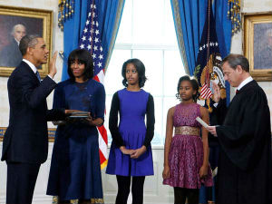 Us President Obama Sworn In For 2nd Term