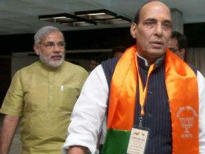 Modi Met Bjp President Rajnath Singh