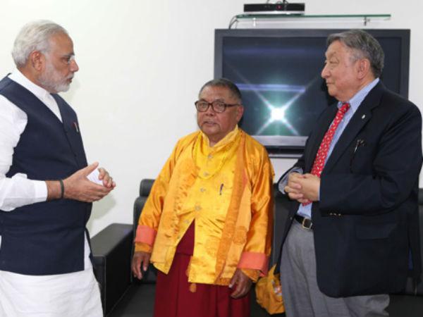 Convenor Of Global Buddhist Congregation Visit To Modi
