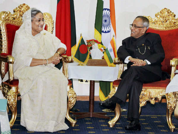 President Pranab Mukherjee Welcome In Bangladesh
