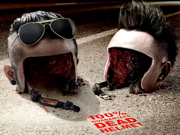 Horror Helmet Advertisment Safety Ride