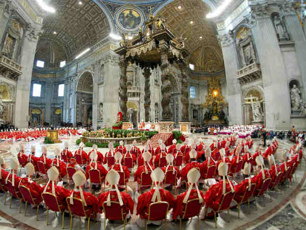 Vatican Cardinals Attend Mass To Elect New Pope